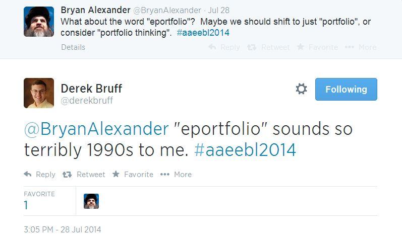 2014-08-01 21_15_33-Twitter _ derekbruff_ @BryanAlexander _eportfolio_ ...